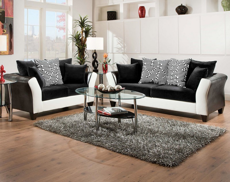 Unique Shaped Sofas Be Simple Yet Modern With These Black And White Living