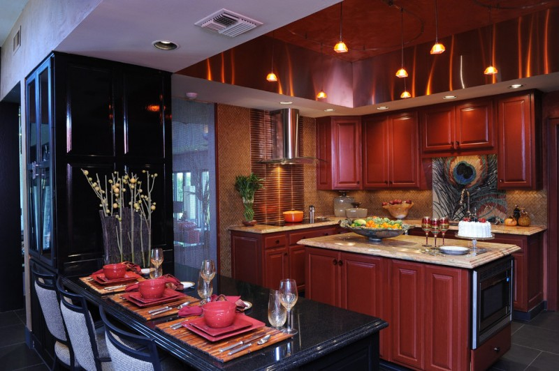 Red And Black Kitchen Enchanting Red And Black Kitchen Ideas You Need To Know