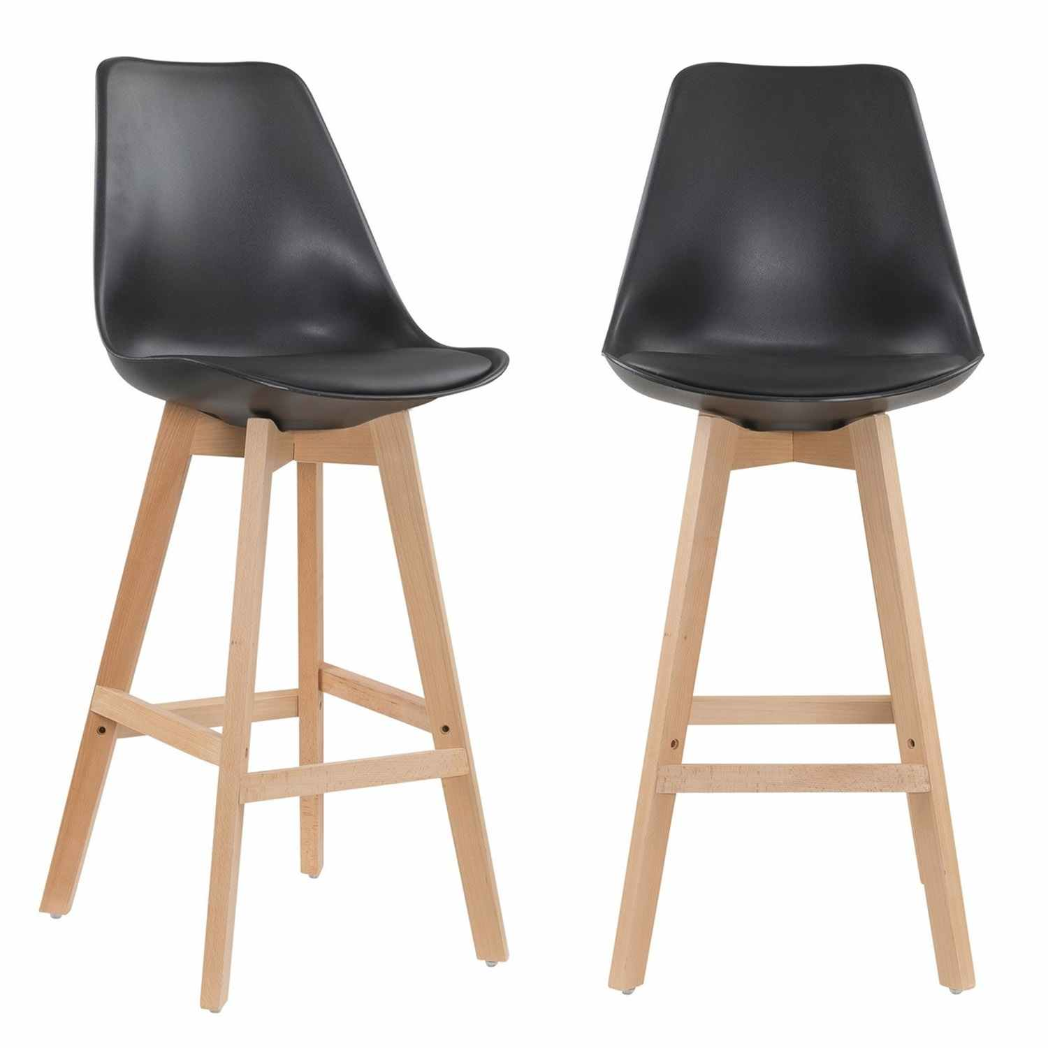 Lot De 2 Tabourets Style Scandinave Deco In Paris 7 Lot De 2 Tabourets De Bar Scandinave