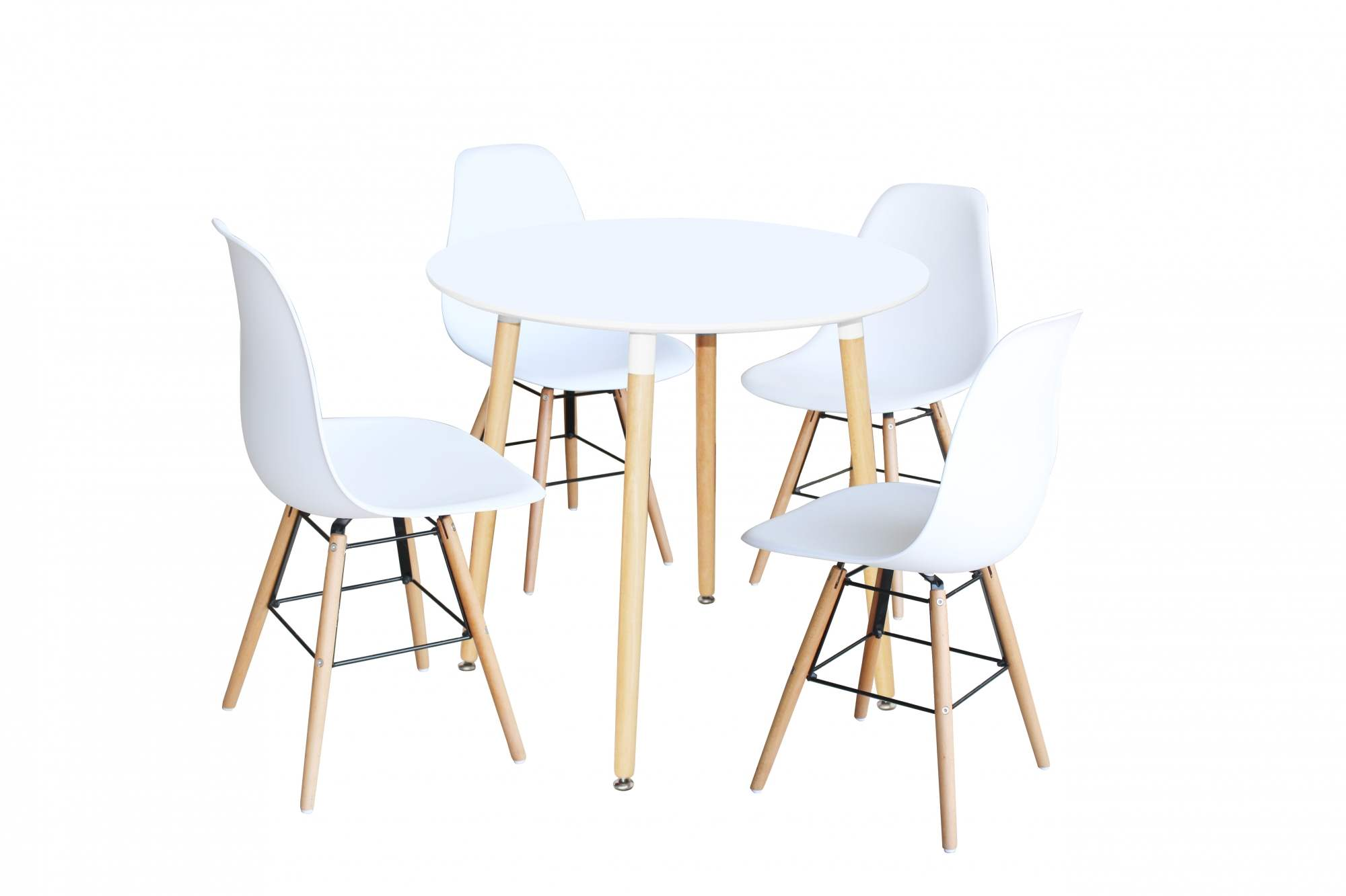 Chaises Blanches Deco In Paris 8 Ensemble Table Ronde Rimma 4 Chaise Blanches