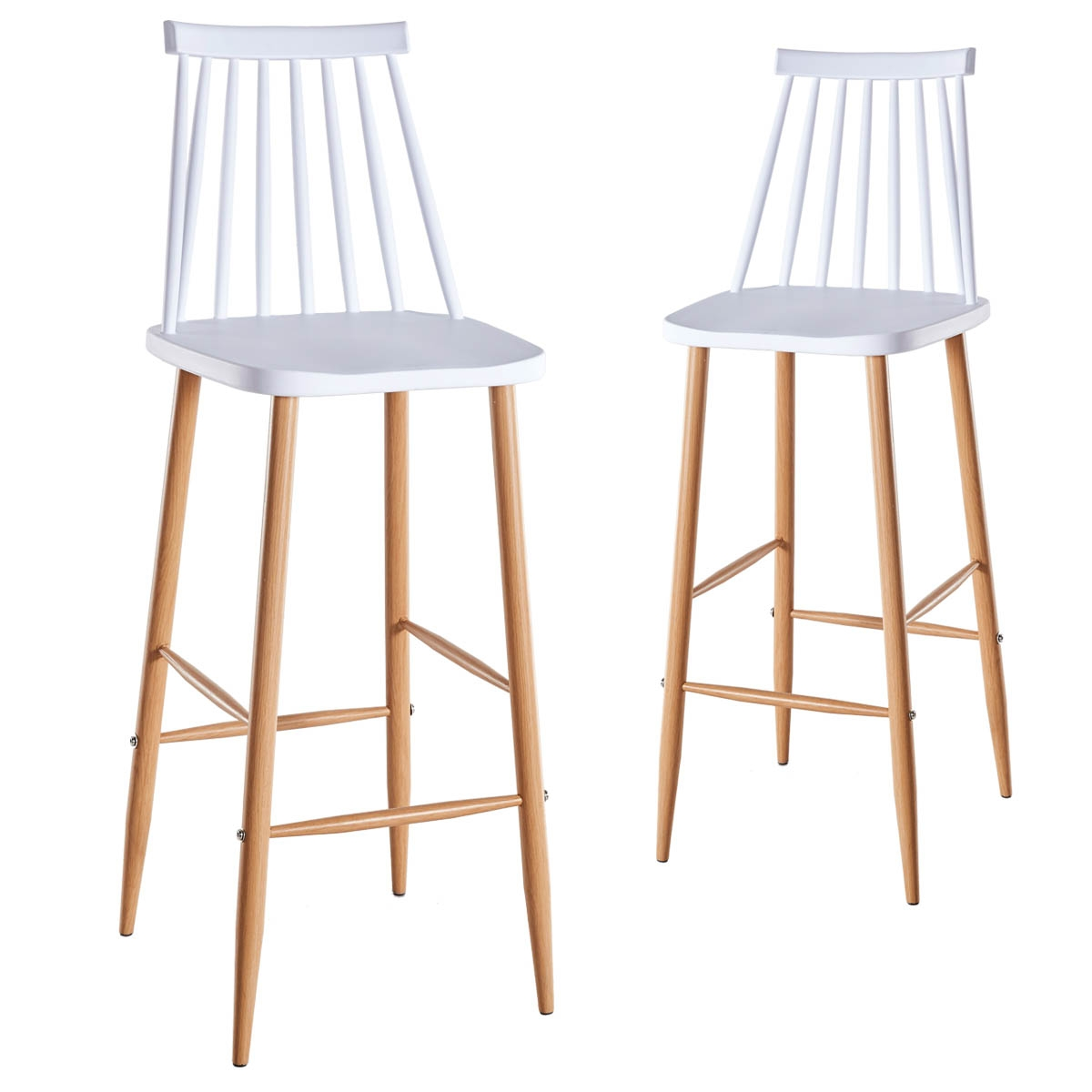 Chaises De Bar Blanches Deco In Paris Lot De 2 Chaises De Bar Scandinaves