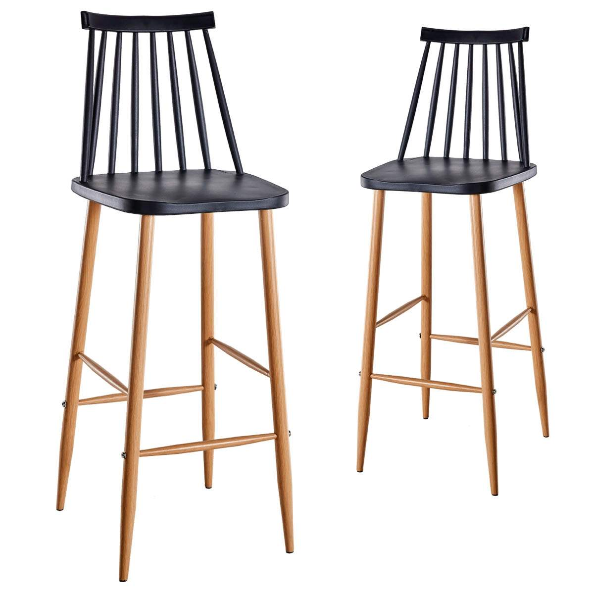 Chaises Scandinaves Noires Deco In Paris Lot De 2 Chaises De Bar Scandinaves