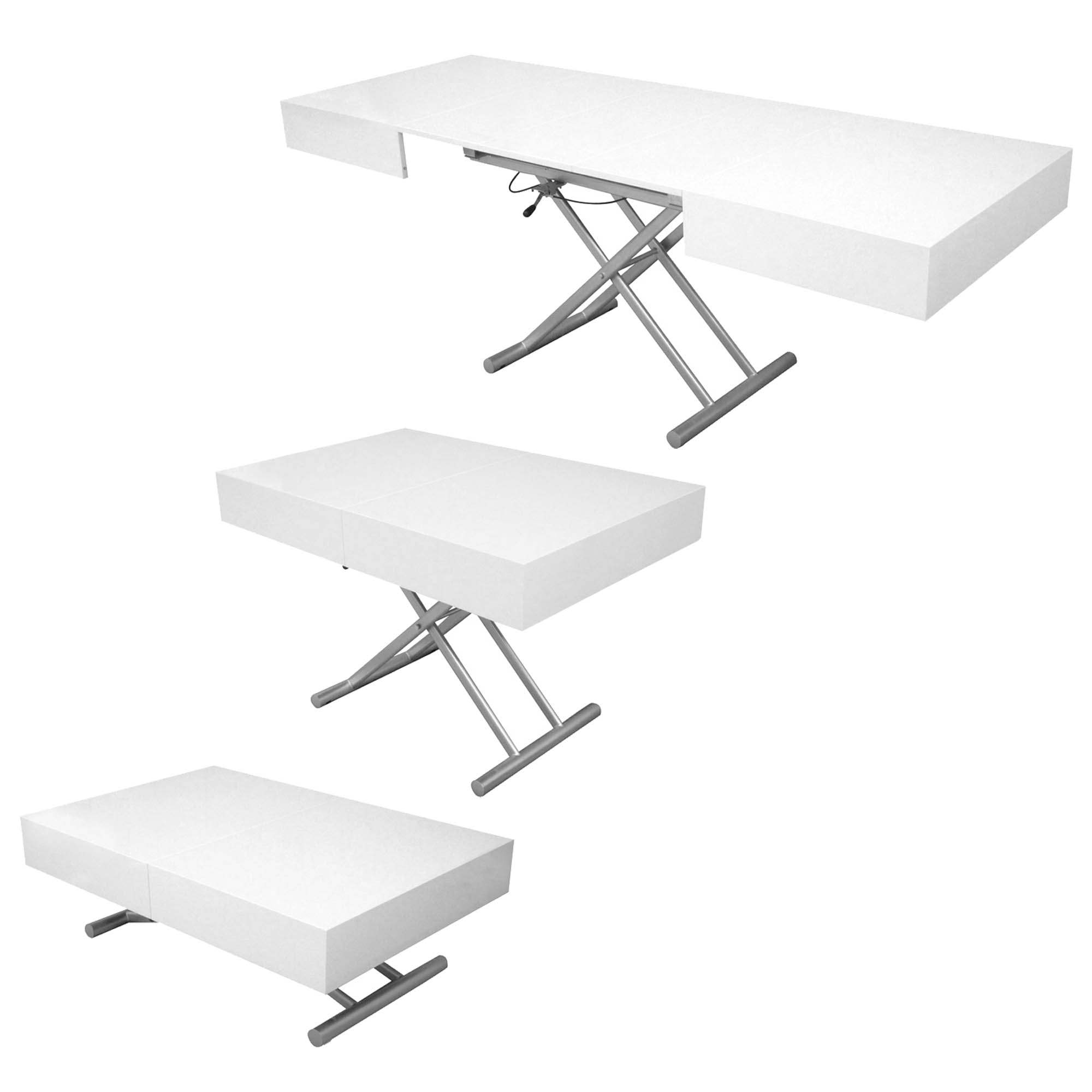 Table Basse Laquee Blanc Table Basse Relevable Extensible Laquée Blanc Smart Xxl