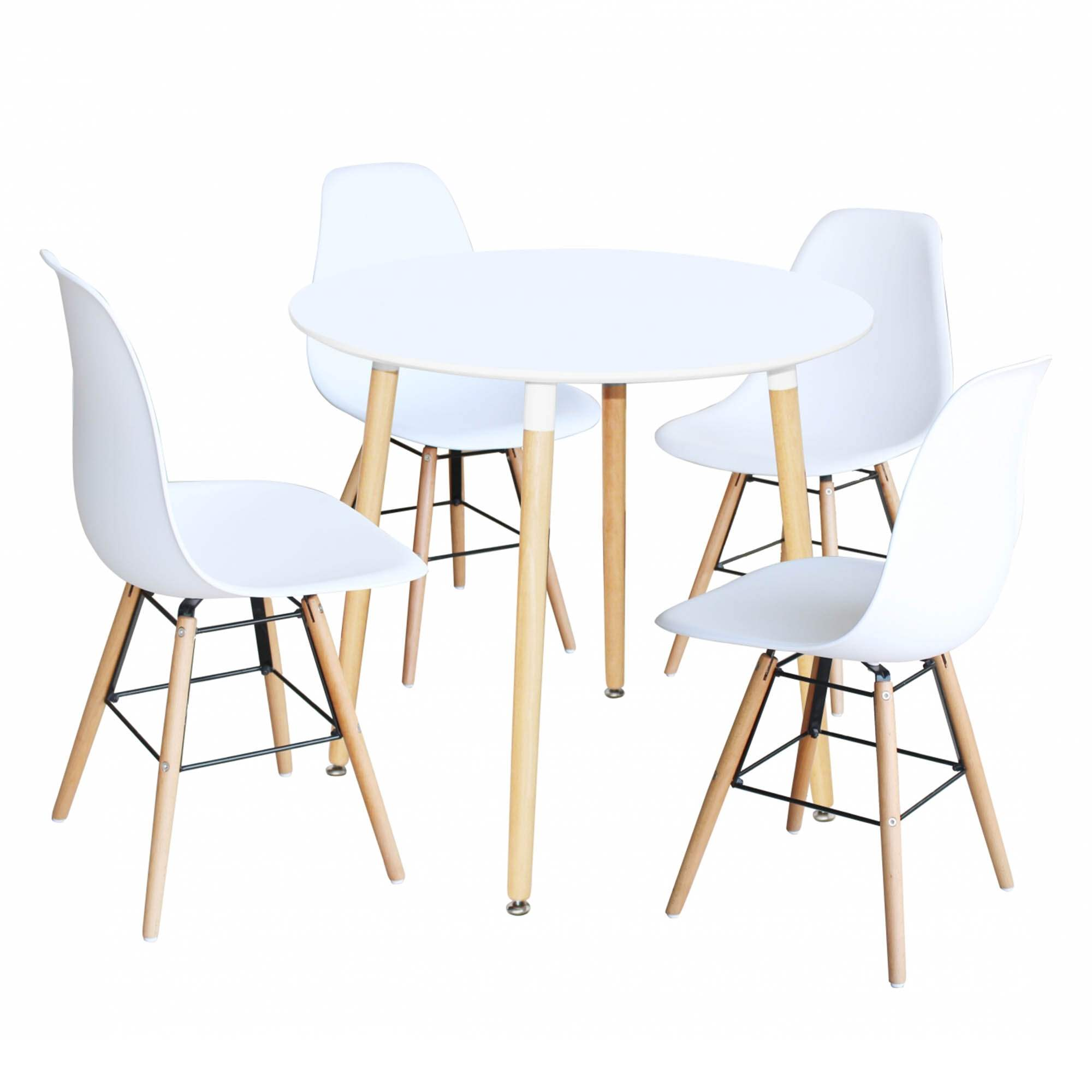 Chaises Blanche Scandinave Ensemble Table Ronde Rimma 4 Chaise Blanches Scandinaves