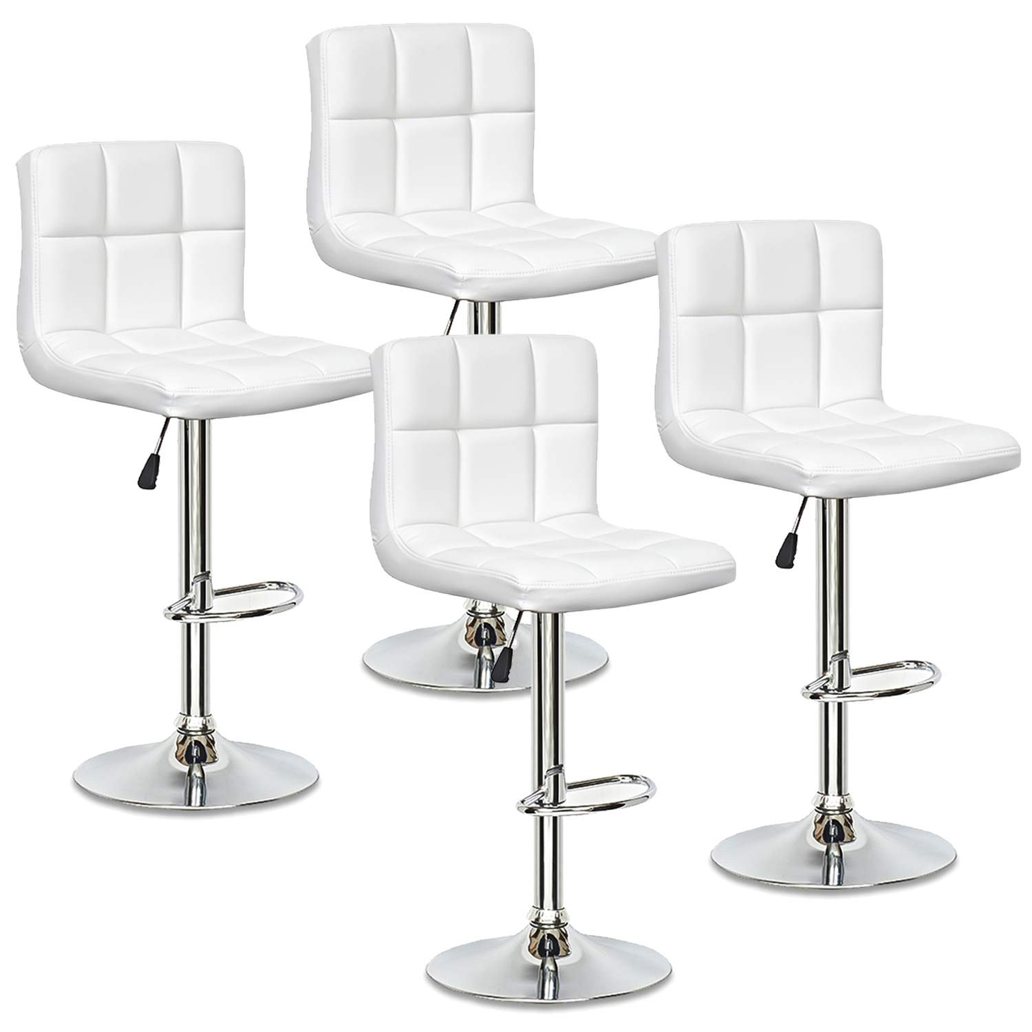 Lot De 4 Tabourets De Bar Blanc Scalo Decoinparis