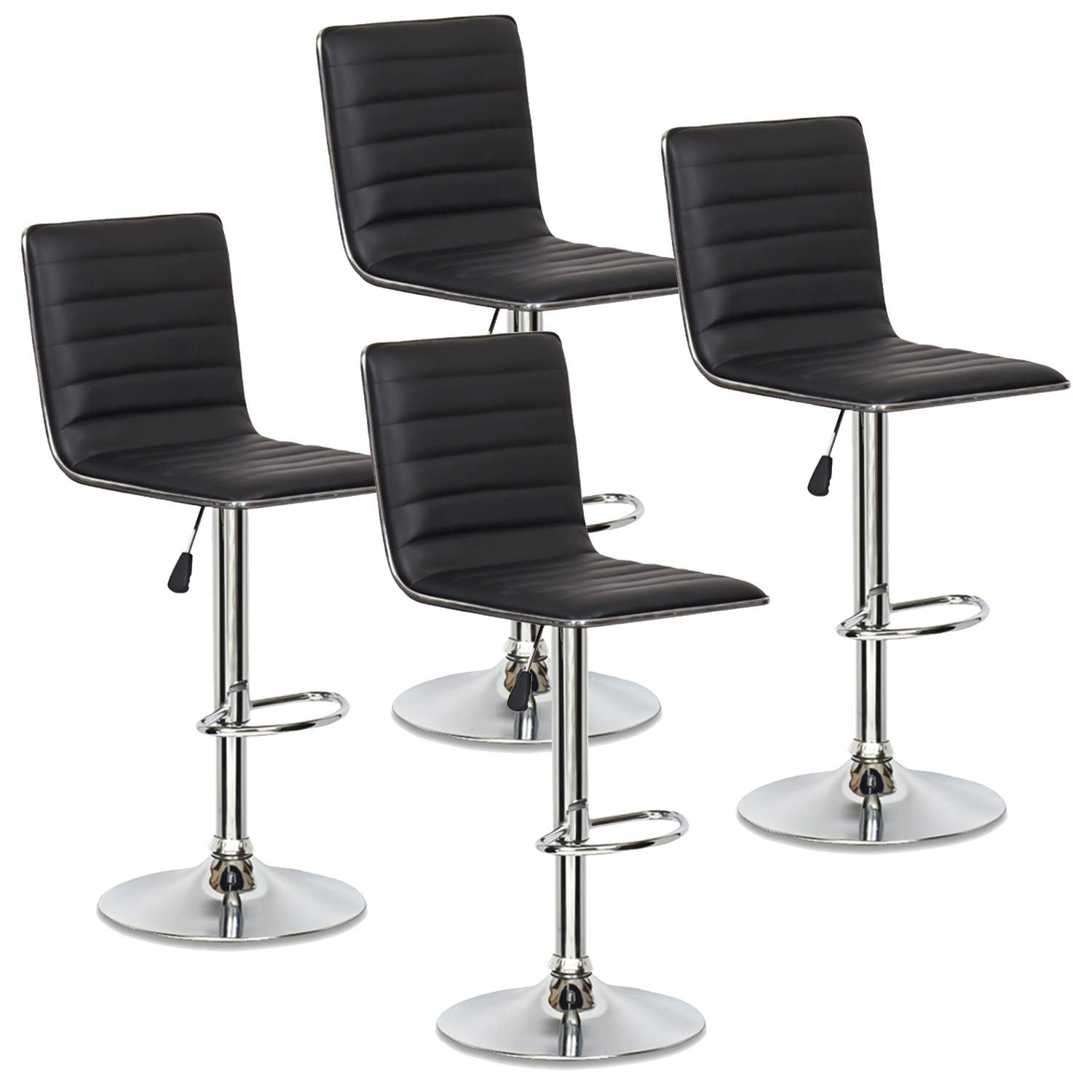 Lot De 4 Tabourets De Bar Noir Locas Decoinparis