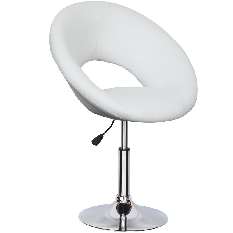 Meuble Tv Hauteur 65 Cm Deco In Paris - Lot De 6 Fauteuils Design Blanc Pivotant