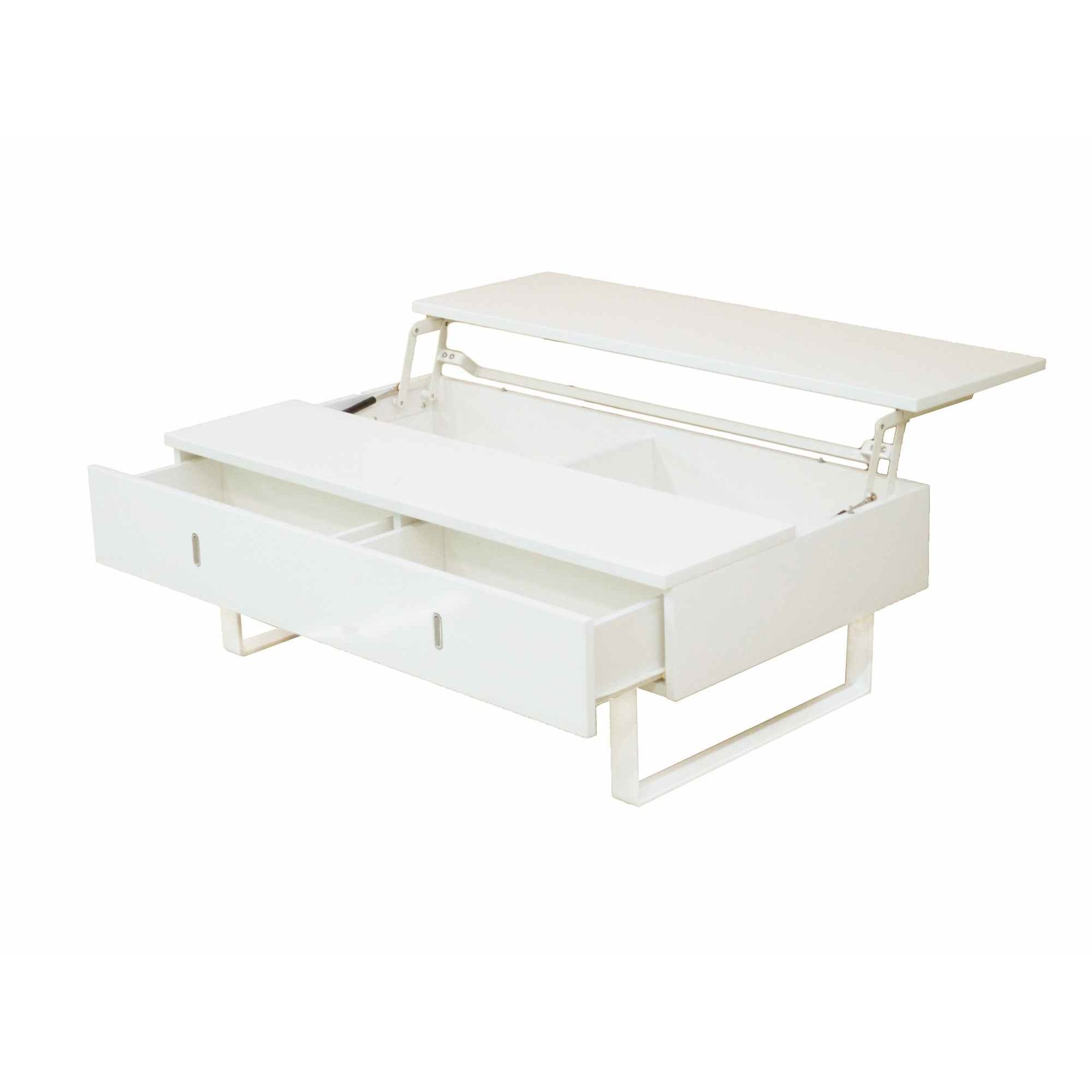 Table Basse Laquee Blanc Table Basse Laquée Blanc Multifonction Easy