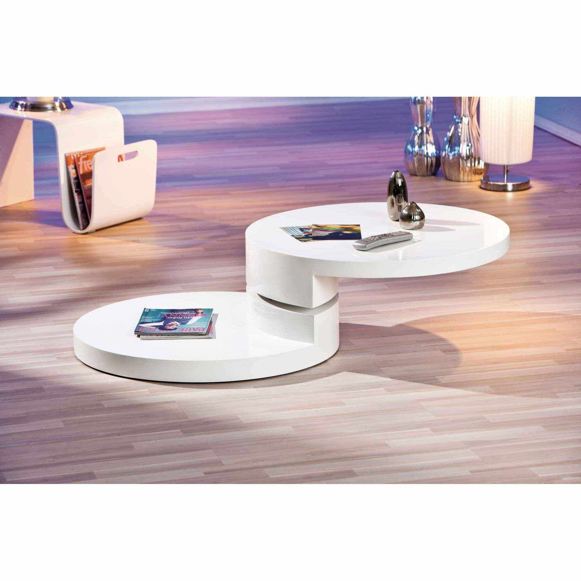 Table Jardin Ronde Extensible Deco In Paris - Table Basse Laquee Blanche Ronde
