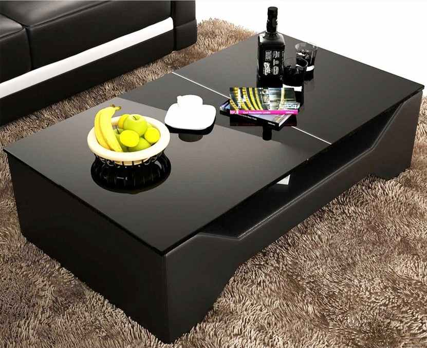 Meuble Bar Noir Et Blanc Deco In Paris - 0_table Basse Design Noir Celia Celia Noir
