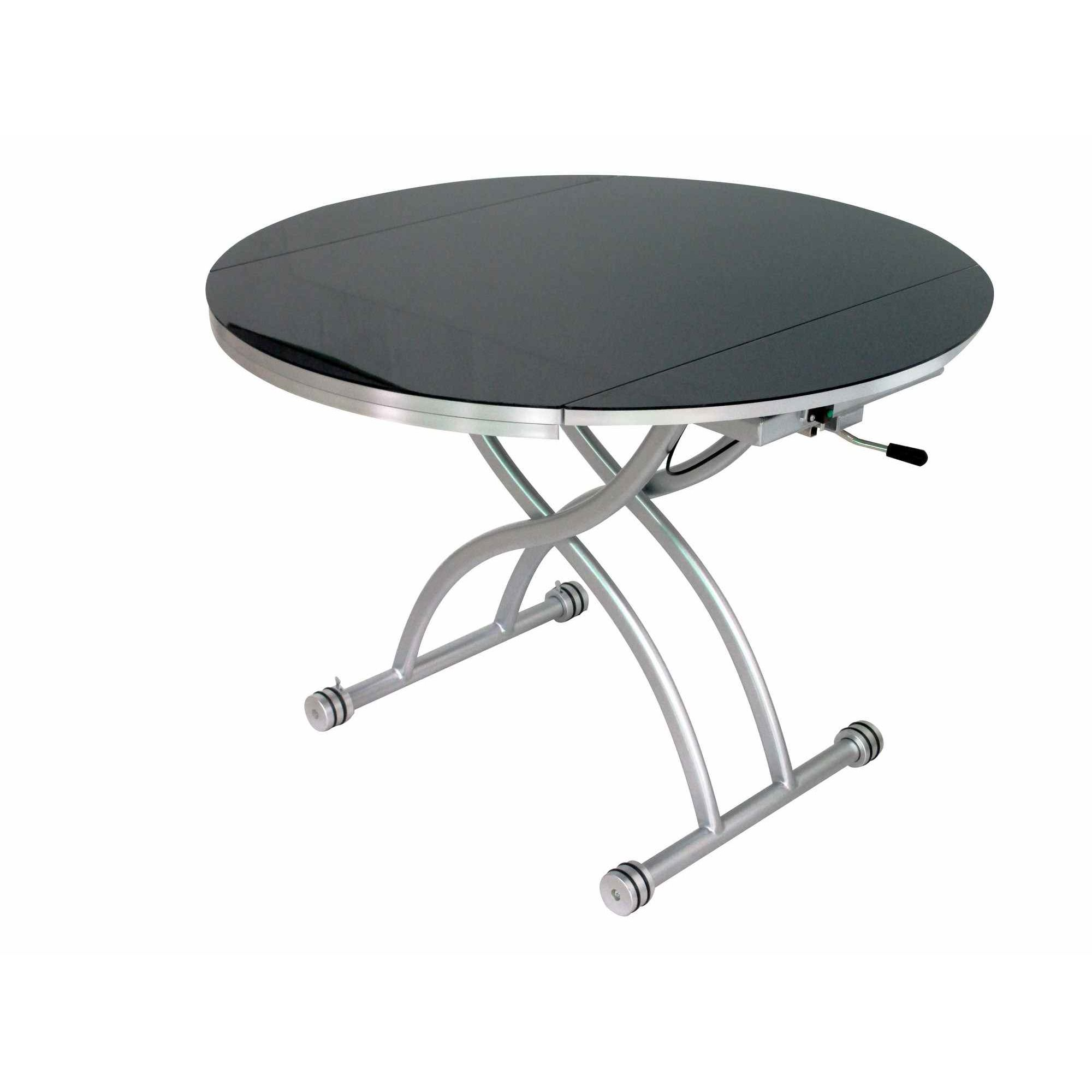 Table Ronde Extensible Noir Deco In Paris Table Basse Ronde Relevable Extensible