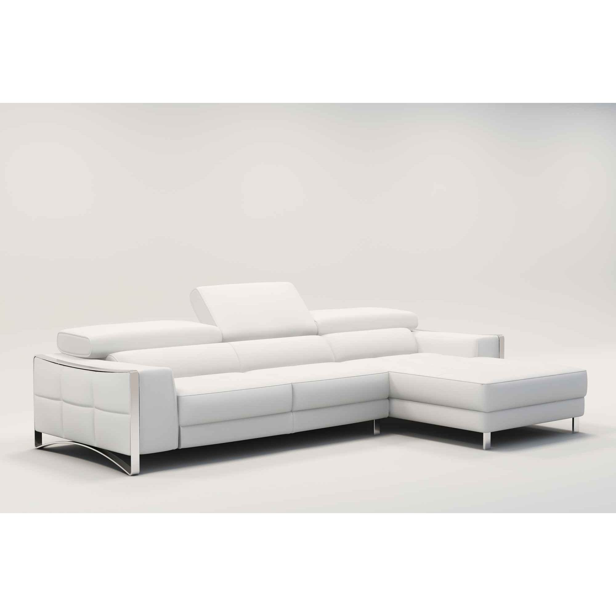 Canapé D Angle Cuir Blanc Design Deco In Paris Canape D Angle Design En Cuir Blanc Sheyla