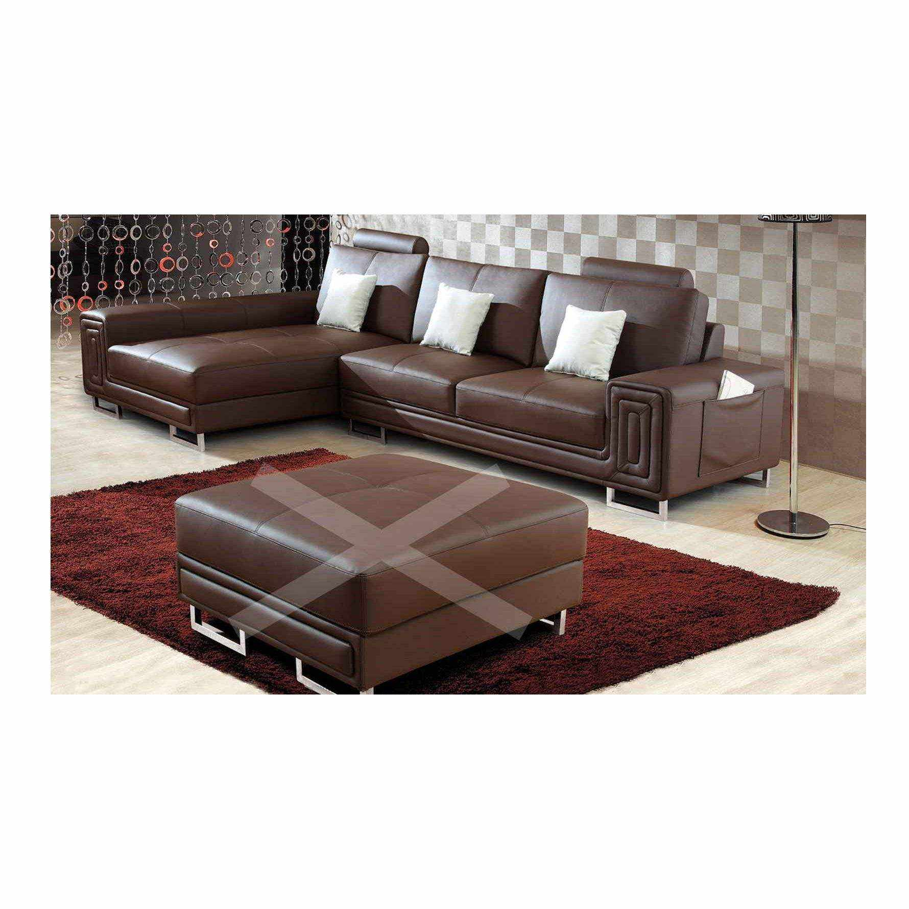 Canape Angle Cuir Deco In Paris Canape Cuir D Angle Marron Tetieres Relax