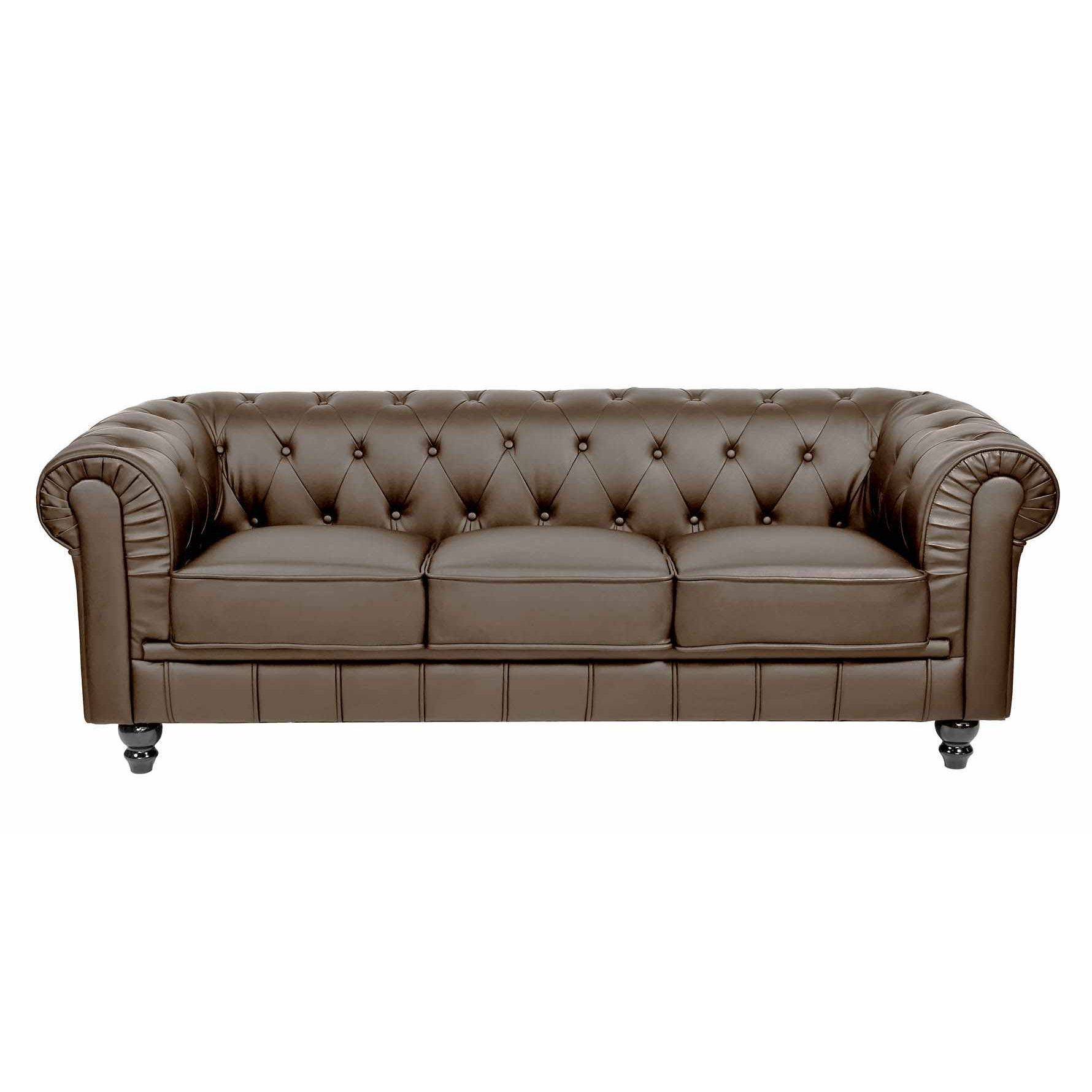 Canapé Chesterfield Patchwork Canapé Chesterfield 3 Places