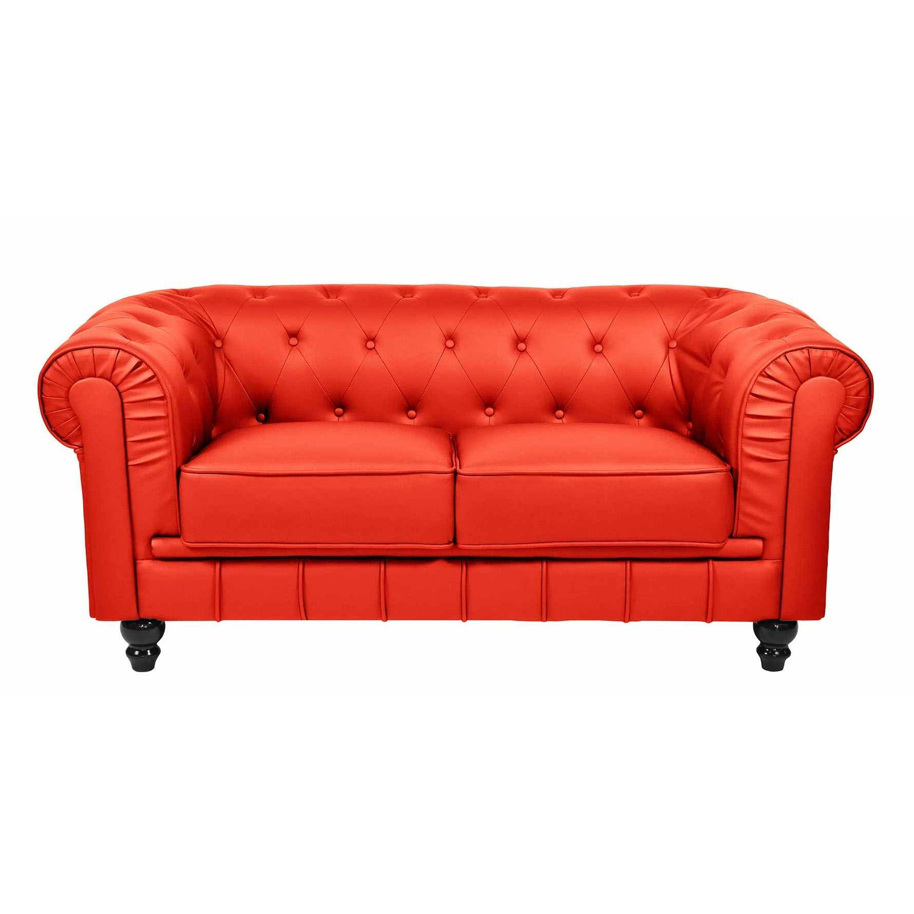 Canapé Chesterfield 2 Places Canapé Chesterfield 2 Places Canap Capitonn 2 Places Marron