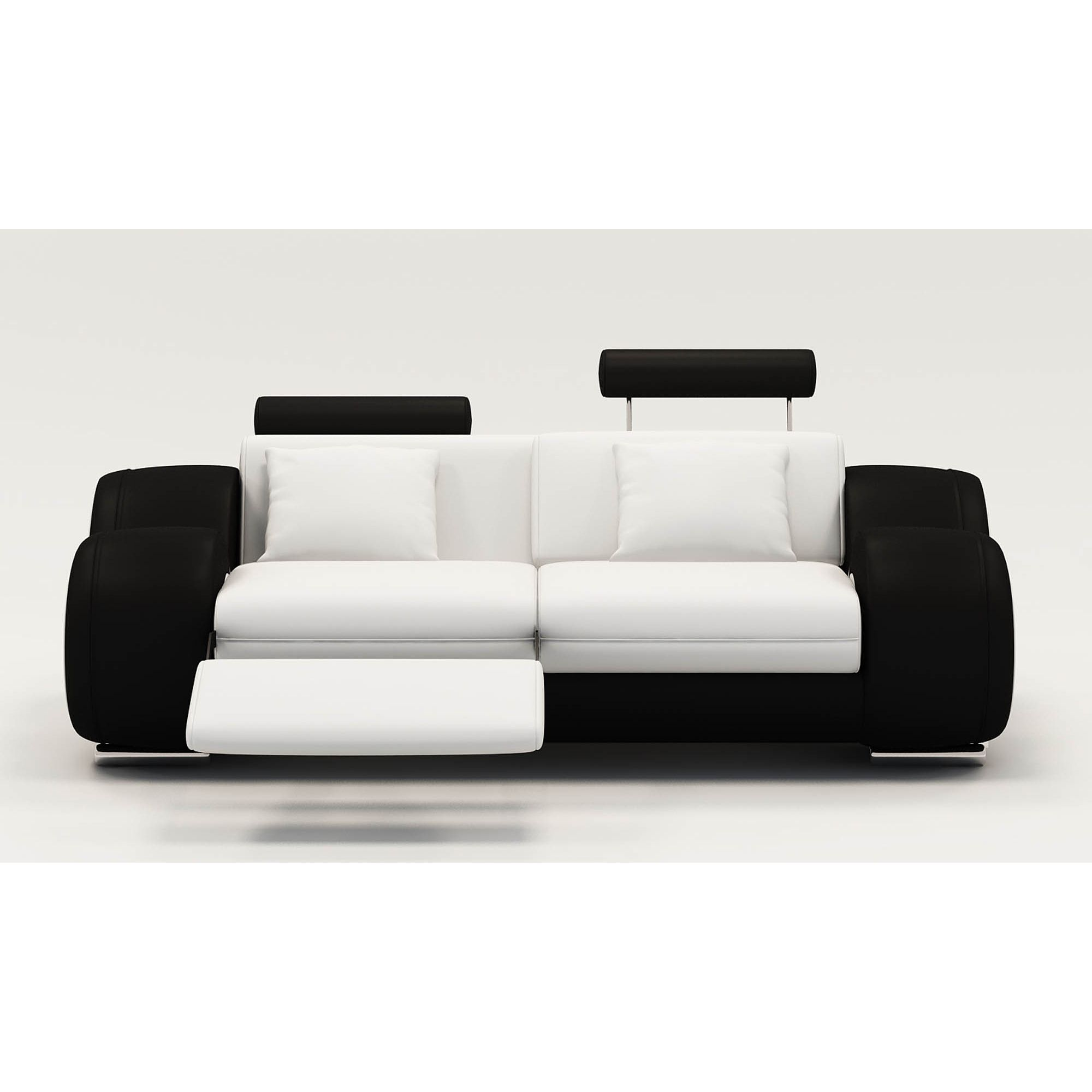 Fauteuils Noir Et Blanc Deco In Paris Ensemble Canape Relax Design 3 2 1 Places