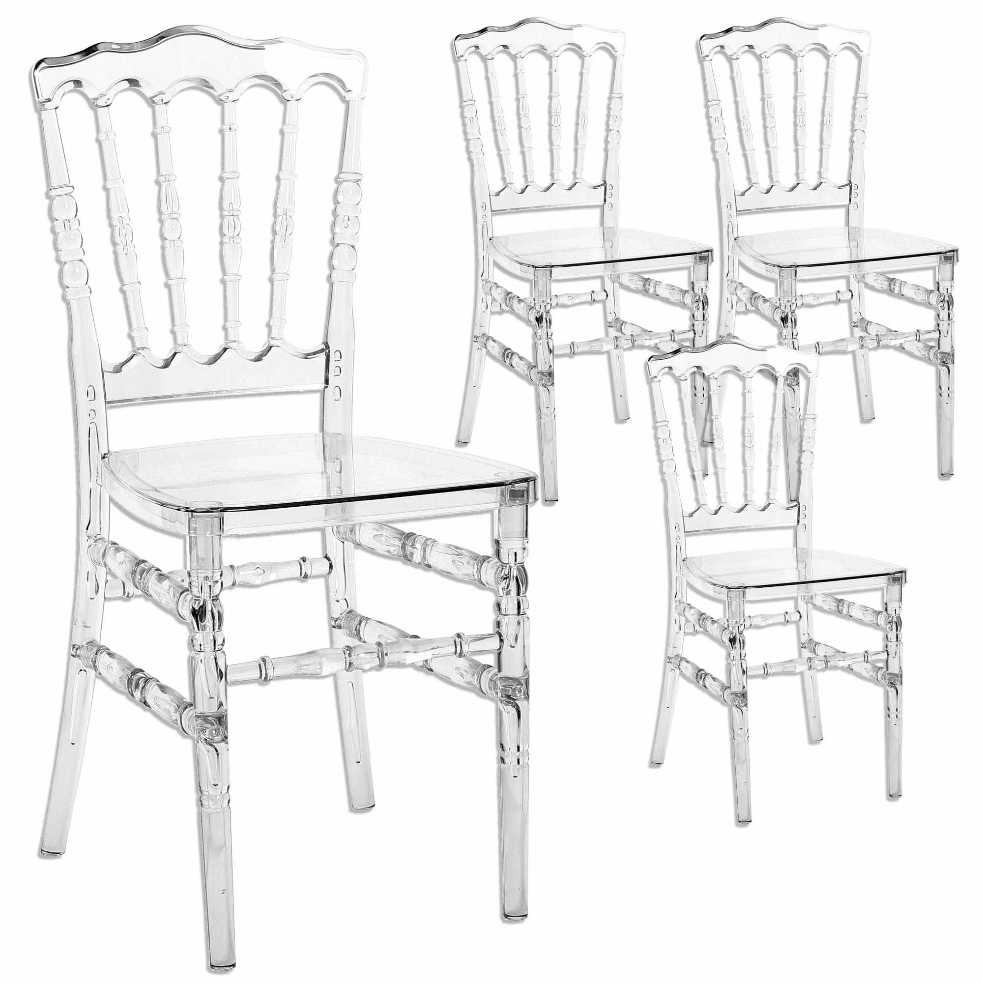 Chaises Medaillon Plexiglas Deco In Paris Lot De 4 Chaises Transparent En Plexi