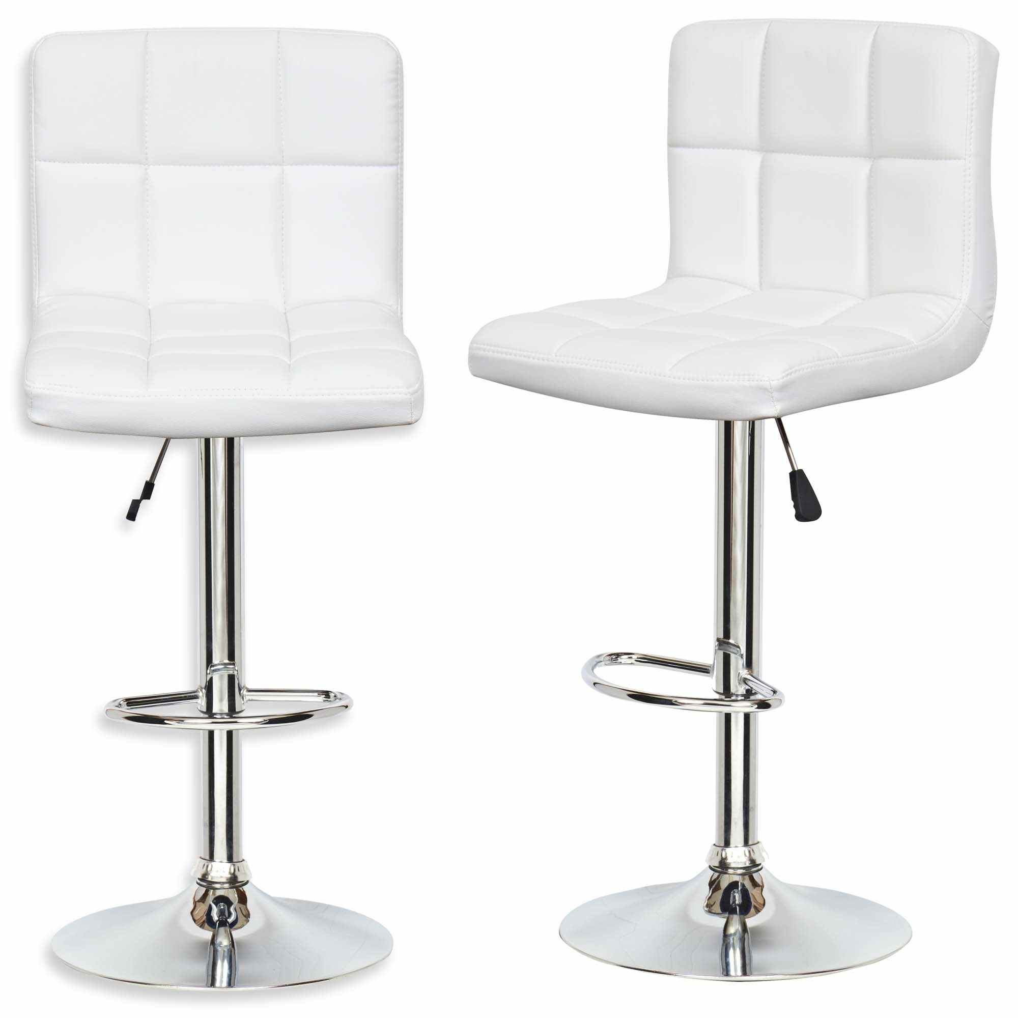 Lot De 2 Tabourets De Bar Blanc Lot De 2 Tabourets De Bar Blanc Scalo