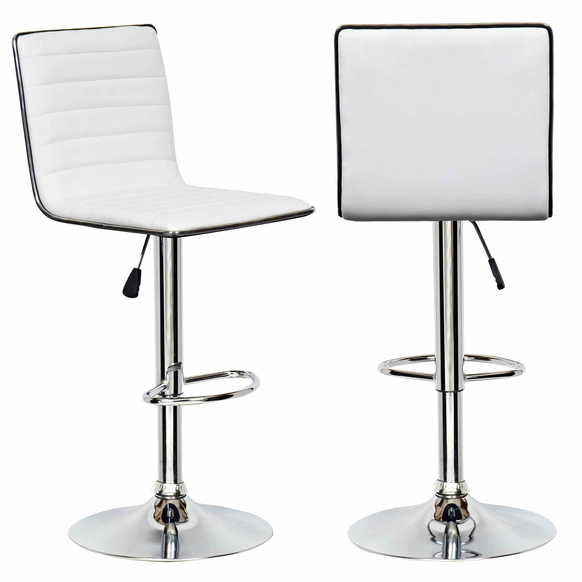 Tabouret De Bar Blanc Et Noir Deco In Paris Lot De 2 Tabourets Blanc Et Noir Design