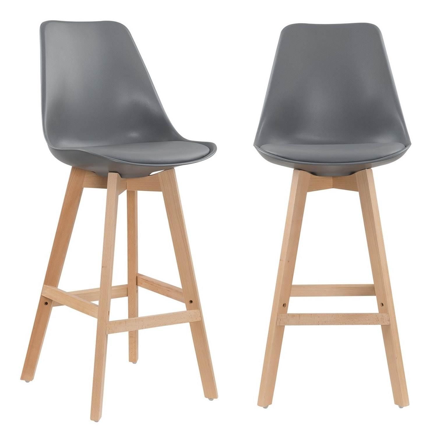 Charly Lot De 2 Tabourets De Bar Blancs Deco In Paris 8 Lot De 2 Tabourets De Bar Scandinave