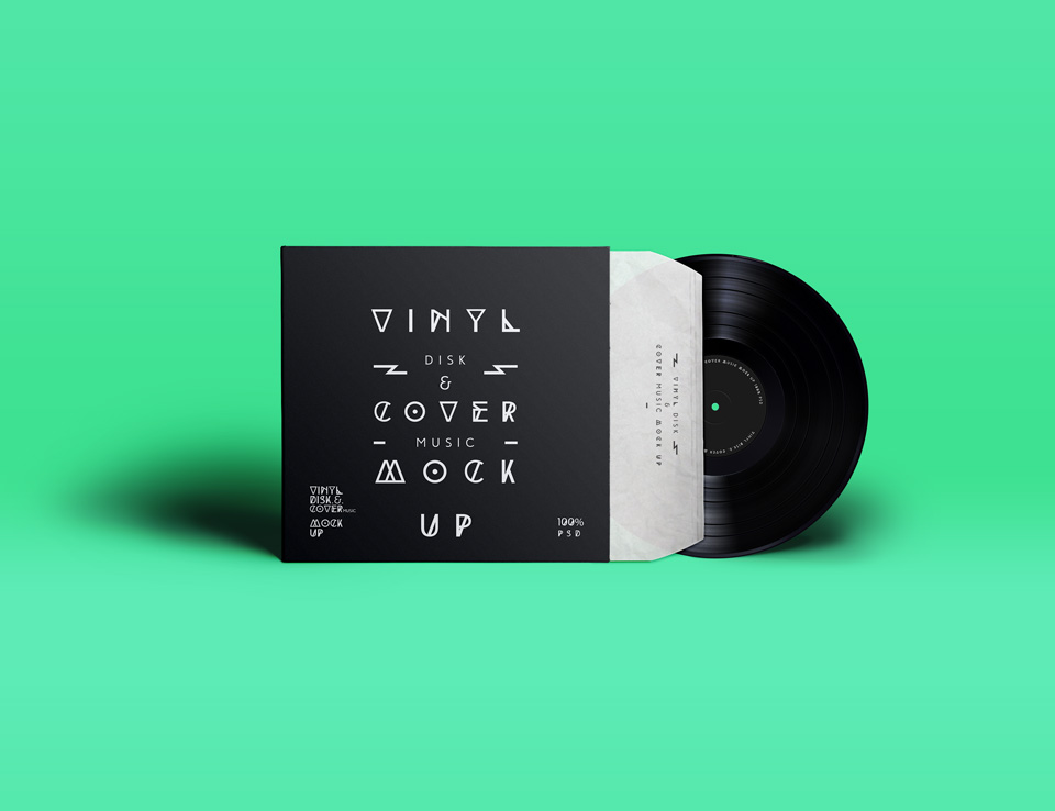 Mockup Report Psd 30+ Vinyl Record Cover & Sleeve Mockups | Decolore.net
