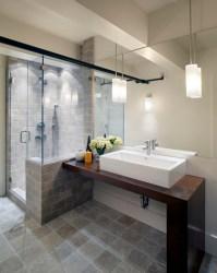 Contemporary bathroom pedant lighting ideas for small ...