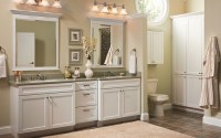 Country style bathroom cabinets double sink with framed ...