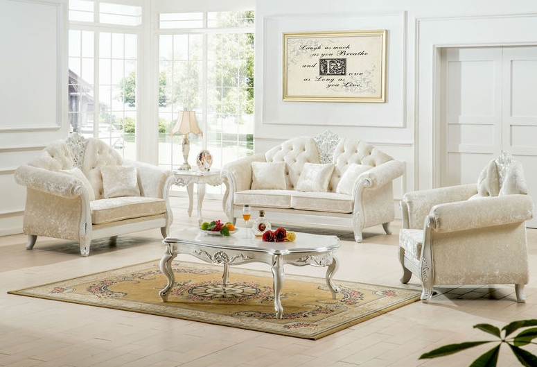 Impressing White Living Room Furniture Designs And Ideas