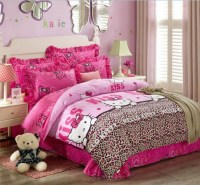 Brown curtain and furniture Hello Kitty bedroom for ...