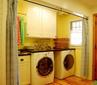 Golden yellow laundry room curtains for curtain divider ...
