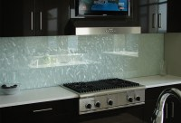 Frosted glass backsplash for kitchen with texture ...