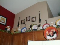 Fat chef kitchen decor with kitchen wall border ...