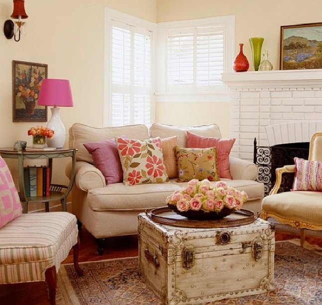30 Country Chic Living Rooms For Modern Antique Feel Decolovernet - vintage living room ideas