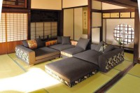 Japanese style living room ideas with modern couch set ...
