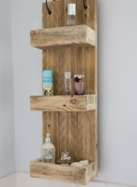 Decorative bathroom shelves with ladder design | Decolover.net