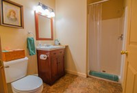 Guest bathroom decor ideas with flush mount ceiling lights ...