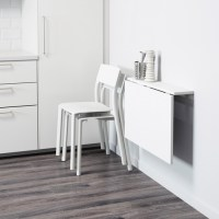 DIY wall mounted folding table for laundry room ...