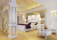 Gold and white bedroom ideas with beautiful bedroom ...