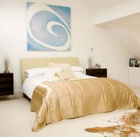 Gold and white bedroom ideas with turquoise bedding ...