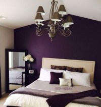 Purple vintage bedroom with deep purple walls painted ...