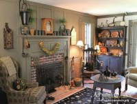Primitive decorating ideas for living room with wooden ...