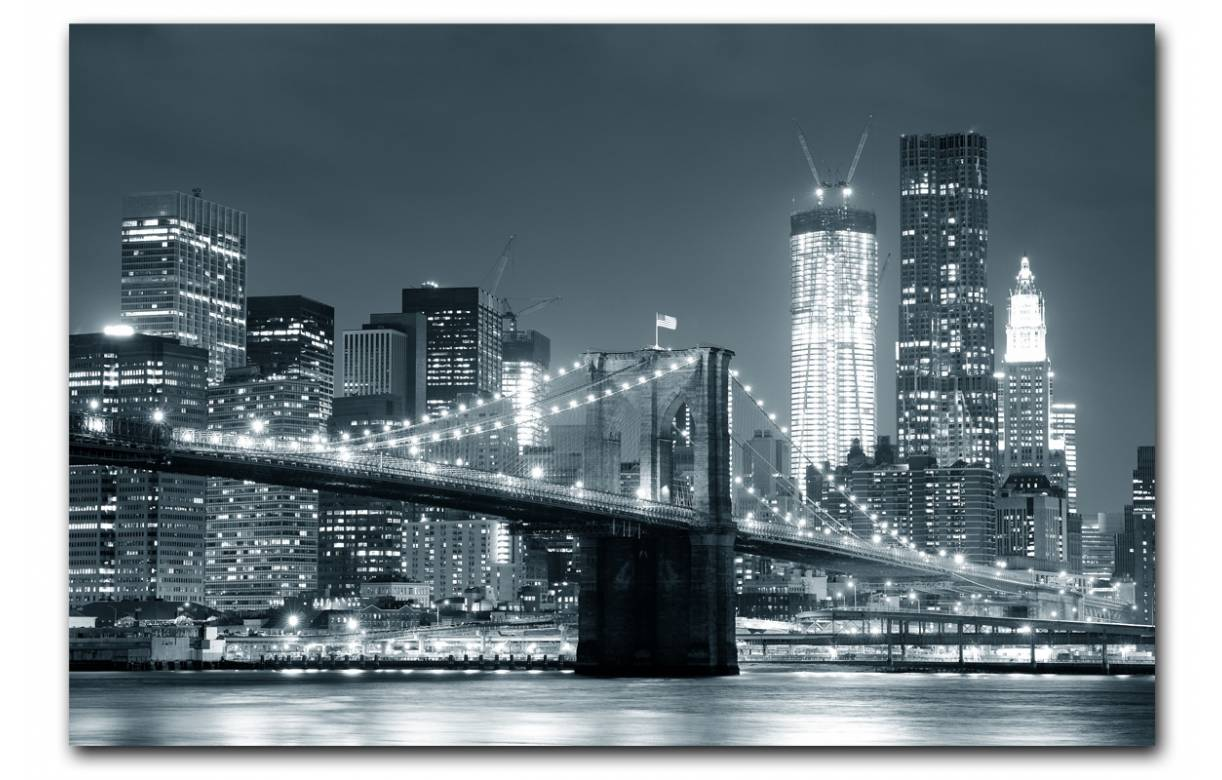 Tableau New York Pas Cher Tableau New York City By Night 80x55 Cm Newy Decome Store