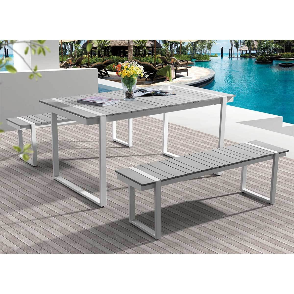 Table Pvc Exterieur Table Alu Exterieur Simple Table De Jardin En Aluminium