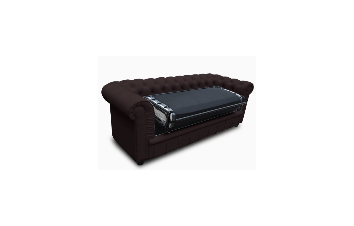 Canapé 3 Places Convertible Canapé Chesterfield Convertible 3 Places En Simili Cuir