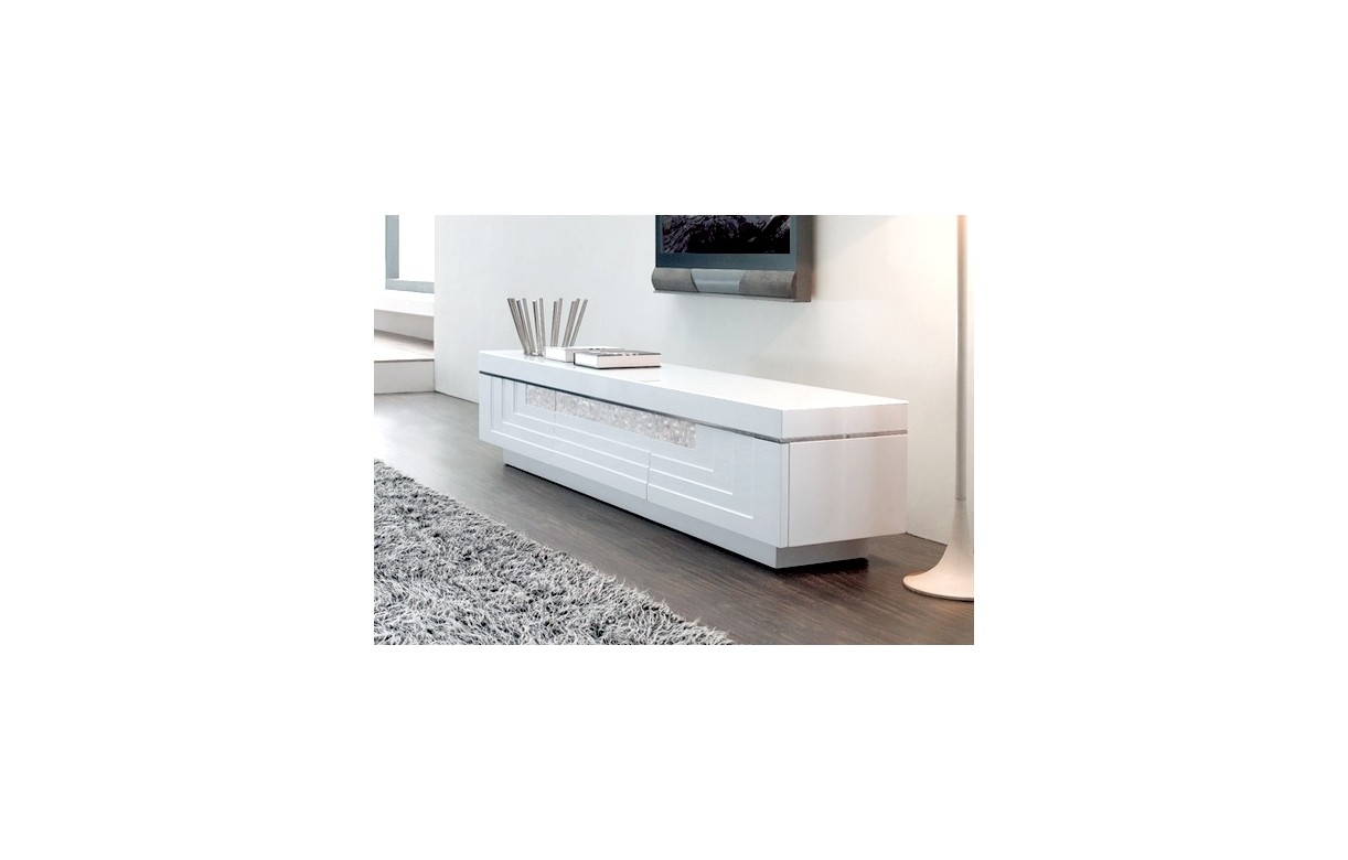 Meuble Design Blanc Meuble Tv Design Blanc Avec 3 Tiroirs Many Decome Store