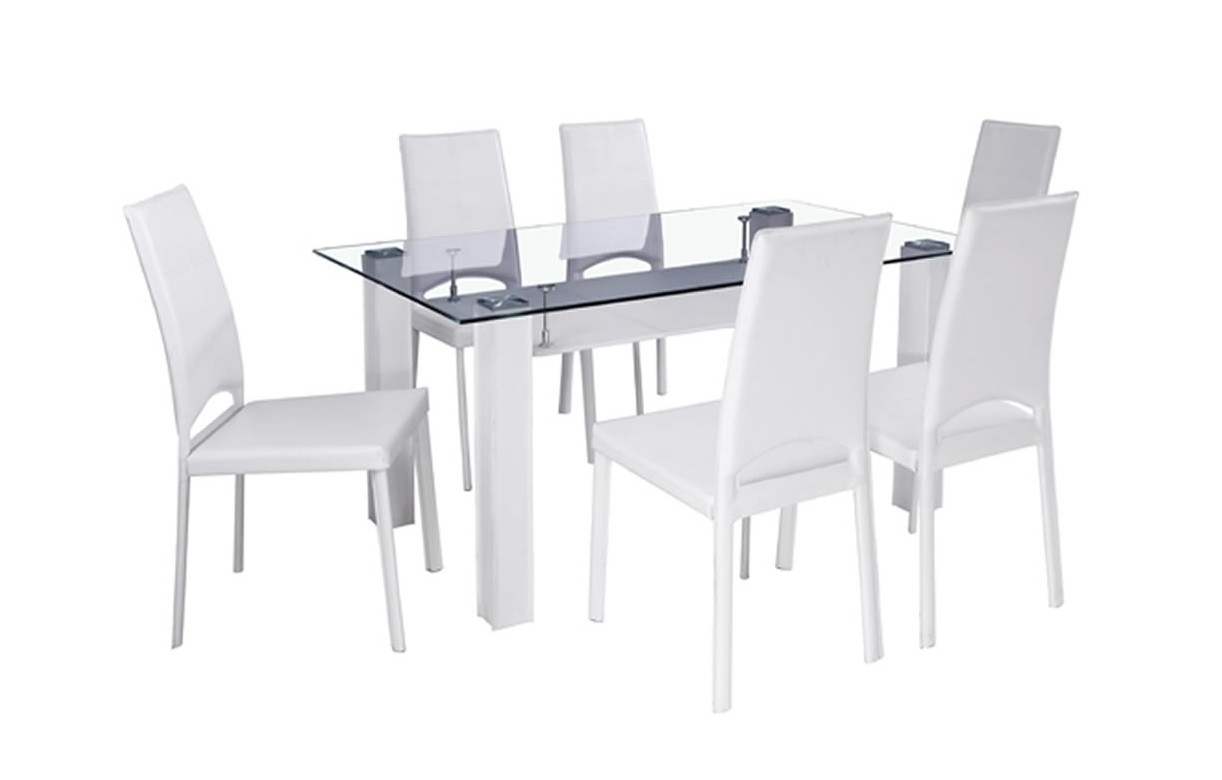Table Avec 6 Chaises Table A Manger Blanche Maison Design Wiblia