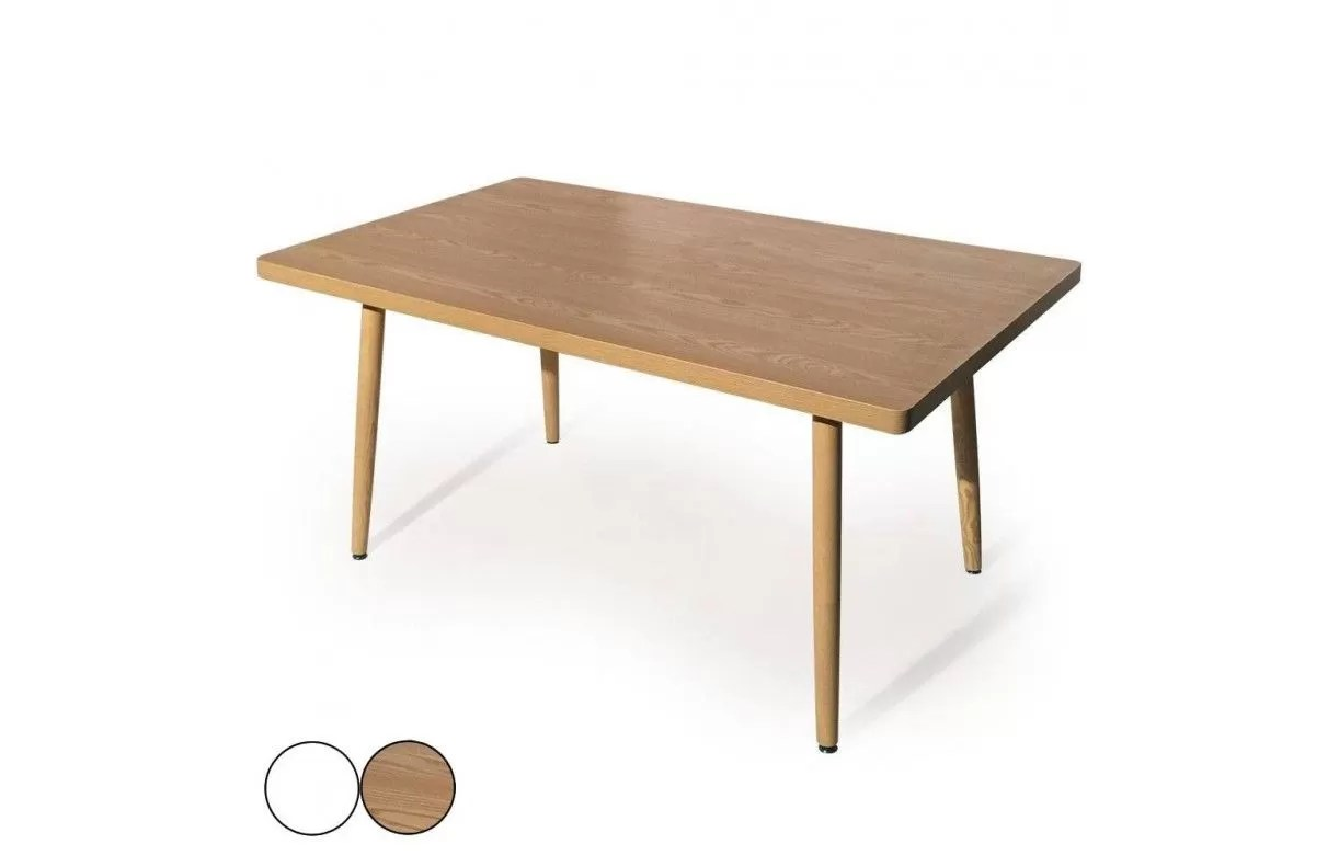 Table Rectangulaire Blanche Table Rectangulaire Pas Cher Design Scandinave