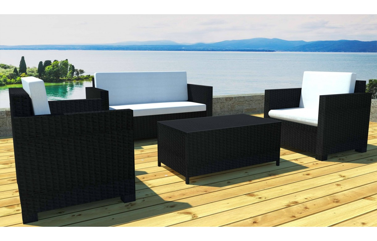 Salon Georgia 1 Canape 2 Fauteuils 1 Table Basse | Salon De Jardin ...