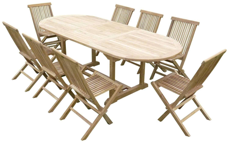 Table De Jardin Teck Massif | Best Salon De Jardin Table Ronde ...