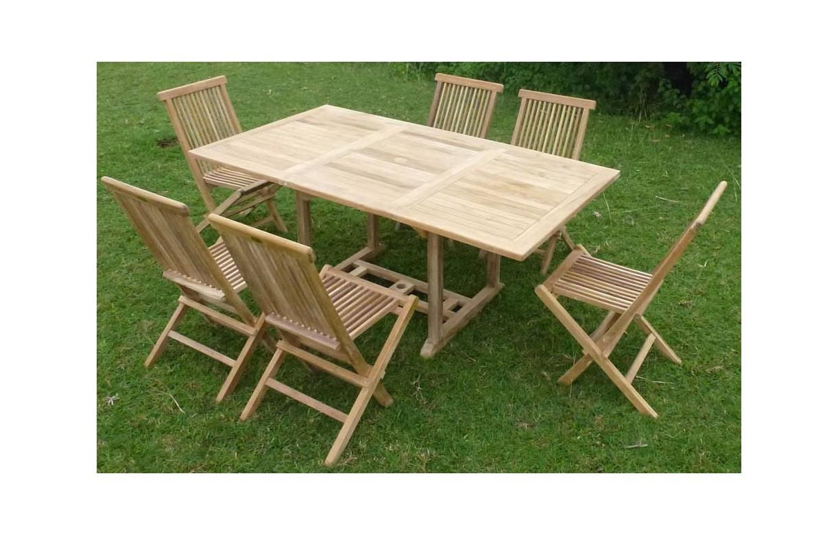 Table De Jardin Teck Massif | Salon Jardin En Teck Pas Cher Salon De ...